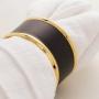 Jogo Anéis Para Guardanapos Metal 4 Peças Dourado