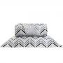 Kit Cobre Leito Casal Santista Home Design 100% Algodao Palm 1 Cinza