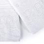 Kit Lavabo Cristal 2 Peças 30x50cm Branco- Buettner