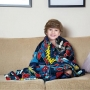 Manta Fleece Lepper Solteiro Infantil Spider Man Azul