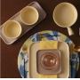 Mini Travessa Porcelana Bon Gourmet Nórdica Amarelo 20x15cm