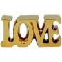 Palavra Decorativa Dourada Em Cerâmica Love Pequena Urban