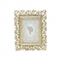 Porta Retrato Resina Dourado P 10X15cm