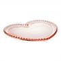 Prato Cristal Coração Pearl Rosa 30X25X2Cm - Rojemac
