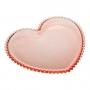 Prato de Cristal Coração Rosa P