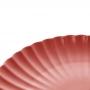 Prato Raso Em Porcelana Bon Gourmet Nórdica Vermelho 26cm