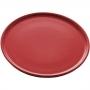 Prato Sobremesa Cerâmica Vadim Vermelho 21cm