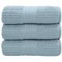 Toalha De Banho Gigante Fio Penteado Canelado 90X150Cm Azul