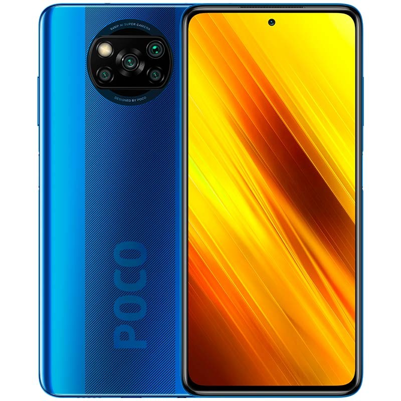 POCO X3 Global Version Bateria 6000mAh (India) 6GB 128GB Cobalt Blue