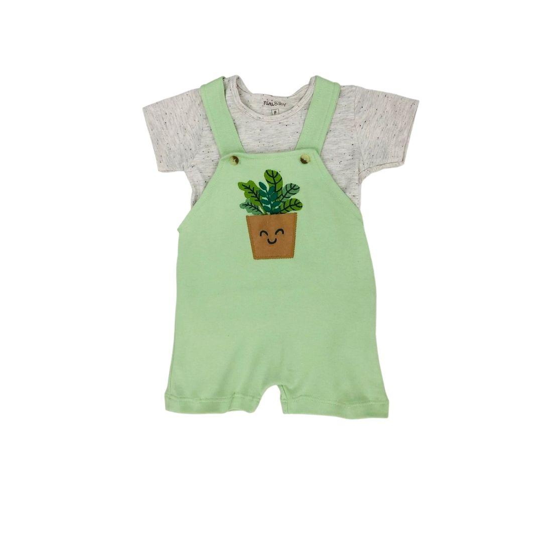 Jardineira Verde  Nini Bambini