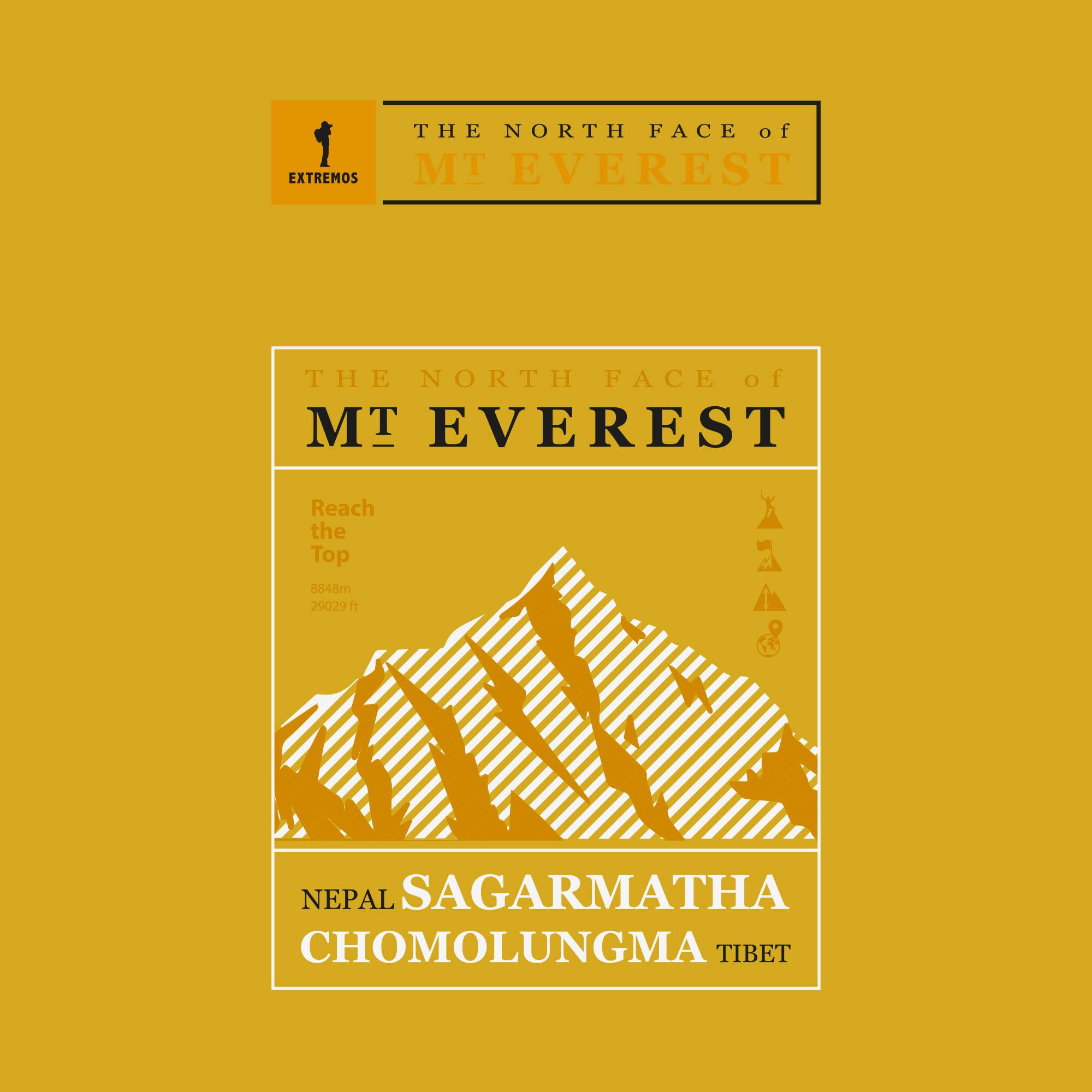 Camiseta FEM Extremos Everest Amarelo
