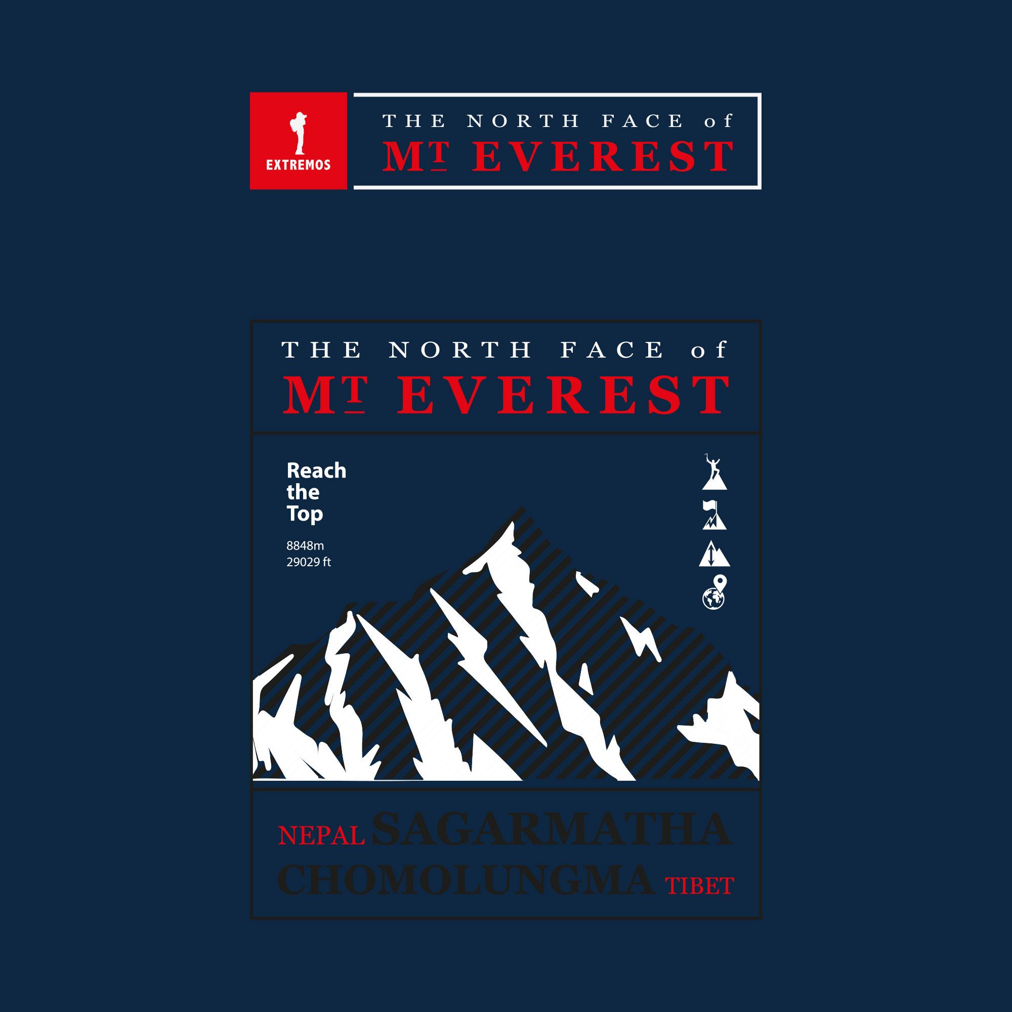 Camiseta MASC Extremos Everest Azul Marinho