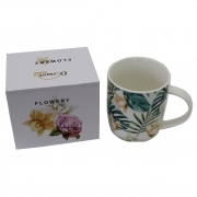 Caneca Flowery Jasmin em porcelana 340 ml Dynasty