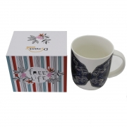 Caneca Free Life First Coffee em porcelana 340 ml Dynasty