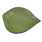 Centro de mesa Folhagem vidro verde 30x22,5x3cm L'Hermitage