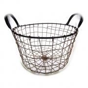 Cesta metal Bent Wire High redonda preta/cobre 25x25x16 Urban