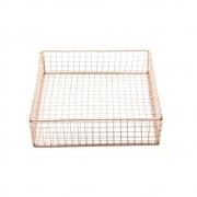 Cesta metal Square Wire cobre 22x22x6,5 Urban