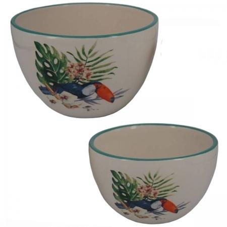 Conjunto 2 bowls cerâmica Tucano 15,5x10 cm 13,3x8cm BTC