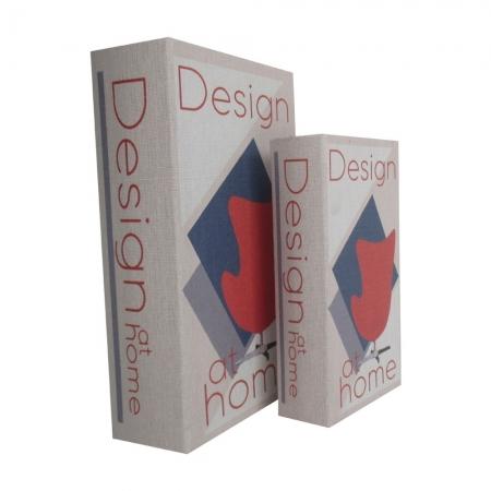 Conjunto 2 caixas decorativas madeira Design At Home BTC