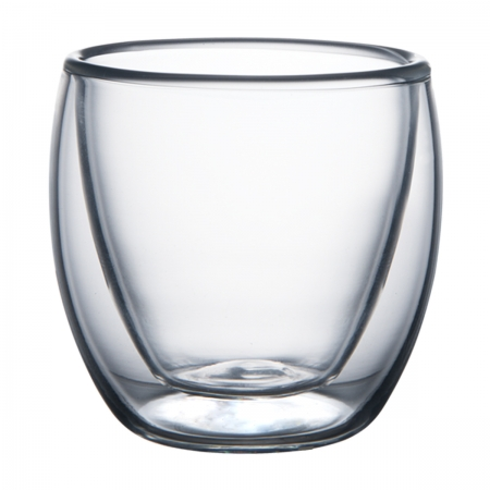 Conjunto 2 copos vidro parede dupla 7x6cm 70 ml Lyor