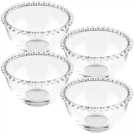 Conjunto 4 bowls cristal Pearl 300ml14x8cm Wolff