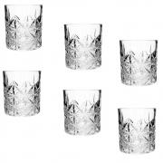 Conjunto 6 copos vidro whisky Lijita 8x9cm 340ml Mimo Style