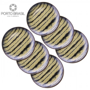 Conjunto 6 Pratos Sobremesa Coup Grunge 20 cm Porto Brasil