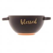Consume cerâmica Blessed preto Matt 16,5x12cm Bon Gourmet