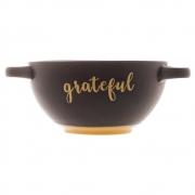 Consume cerâmica Grateful preto Matt 16,5x12cm Bon Gourmet