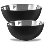 Kit 2 Bowls Inox Preto 27x12cm 5L/ 24x12cm 3,2L Mimo Style