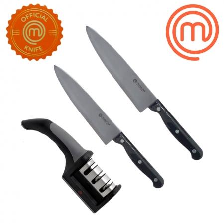 Kit Faca do Chef 6/8p Quotidien Forjada + Afiador MasterChef