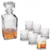 Kit Garrafa 700ml e 6 Copos 300ml de Whisky Hamilton/Stella