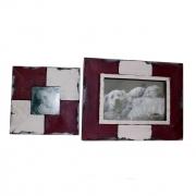 Kit Porta Retratos de Mesa Vinho e Branco Santa Cecília