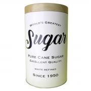 Lata metal Expresso Round Pure Sugar branco 13x10 cm Urban