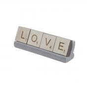 Letras Decorativas Love Lettering Marrom/Cinza16x5cm Urban