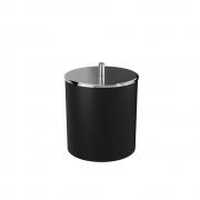 Lixeira preta com tampa inox  19x23cm 5,4l Coza