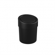 Lixeira preta Press 20x25cm 5L Coza
