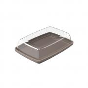 Manteigueira 15,5x10,8xx5x4,6cm Cozy cinza quente Coza