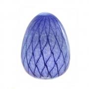 Ovo decorativo Eliptico vidro azul 11x14,5cm L'Hermitage