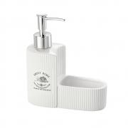 Porta detergente esponja cerâmica 250ml15x6x17cm Sweet Home