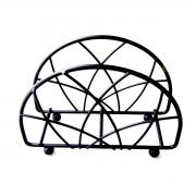 Porta Guardanapo metal preto 13x4,5x9,5cm BTC