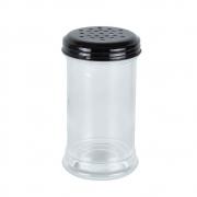 Porta tempero vidro tampa metal preto 300ml 7x13 Bon Gourmet