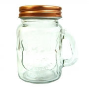 Pote de Vidro Tampa Cobre Little Mug 4,5x8,6cm 110ml Urban