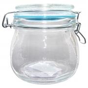 Pote hermético vidro Cancun Color azul 520ml 11x10cm Lyor