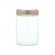 Pote vidro Clean Glass Round Cobre 11x17,5cm 1,5 L Urban