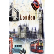 Quadro London City 20 x 30 cm