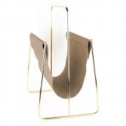 Revisteiro metal dourado e tecido 40,3x27,2x47 BTC