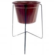 Suporte de mesa Triângulo com vaso metal 21x17cm Monte Real