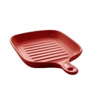 Travessa cerâmica Nórdica vermelho Matt 23x16cm Bon Gourmet
