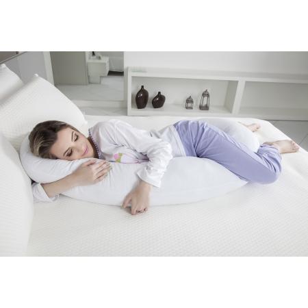 Travesseiro de corpo minhocão gestante 21x150x15cm Fibrasca